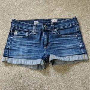 AH denim shorts